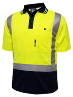 Techni Vision Hi Vis Day/Night Polyester Short Sleeve Polo