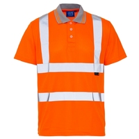 Supertouch Hi-Visibility Bird Eye Polo Shirt, Orange