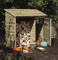 Log and Tool Store Garden Storage