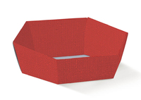 BOX TRAY HEX RED 290X230X85MM