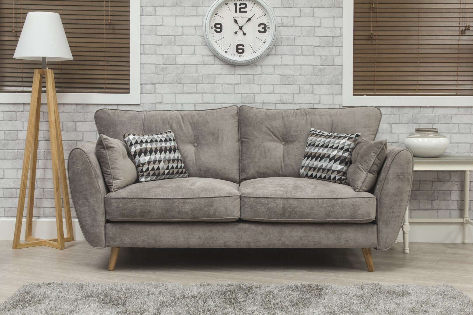 Marlo Fabric Sofa - Grey 2