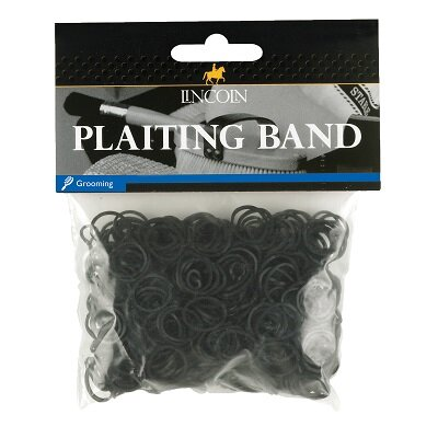 Lincoln Plaiting Bands 500s Black