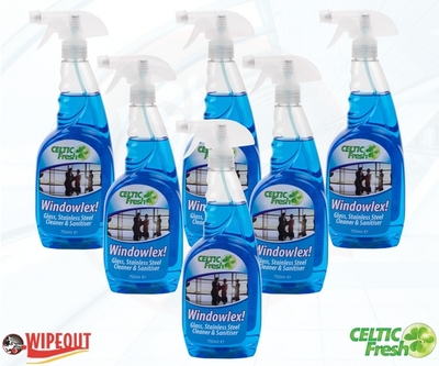 WINDOWLEX! GLASS, S/ STEEL CLEANER & SANITIZER 6x750ml