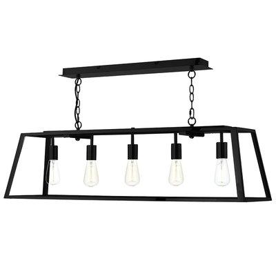 Academy 5 Light Pendant, Black | LV1802.0043