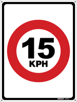 Traffic Speed Sign 15 kph