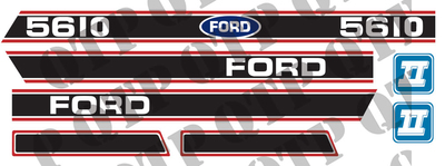 Decal Ford 5610 Force 2 Red & Black