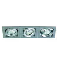 ONE Light Aluminium Square Adjustable Triple Downlight