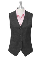 Charcoal Bella Single Breasted Ladies Waistcoat
