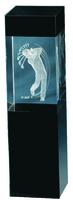 22cm Crystal 3D Golf Trophy (Plain Box)