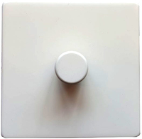 DETA Screwless 1gang Dimmer White Metal | LV0201.0027