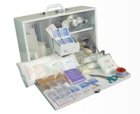 1-50 Industrial First Aid Kit Metal Wall Mount Box