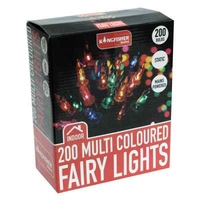 KINGFISHER 200 MULTI COLOURED CHRISTMAS FAIRY LIGHTS