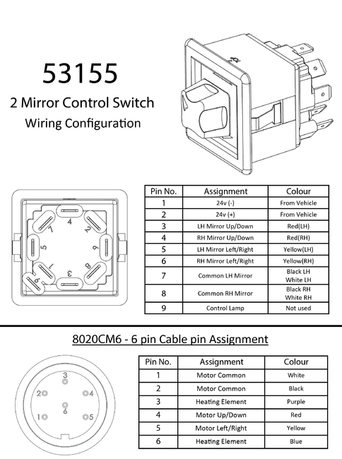 electric heater mirror kit c  w mirror control