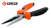 Groz Long Nose Pliers 200mm 8inch