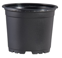 Teku VCH9 Round Pot 5° Tall Thermoformed 9cm - Black