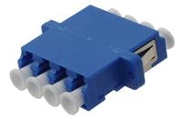 ADAPTOR LC/PC BLUE QUAD FLANGE