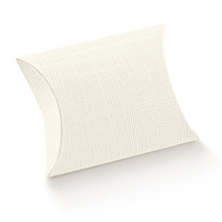 BOX GIFT PILLOW IVORY 100X100X35MM disc