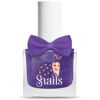 Deep purple kids-safe nail polish that washes off with soap and water.