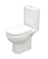 SONAS TONIQUE CLOSE COUPLED WC W360 X H830 X D625 MM WITH CISTERN AND S/C SEAT