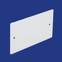 SQR BLANK PLATE 2 GANG PVC