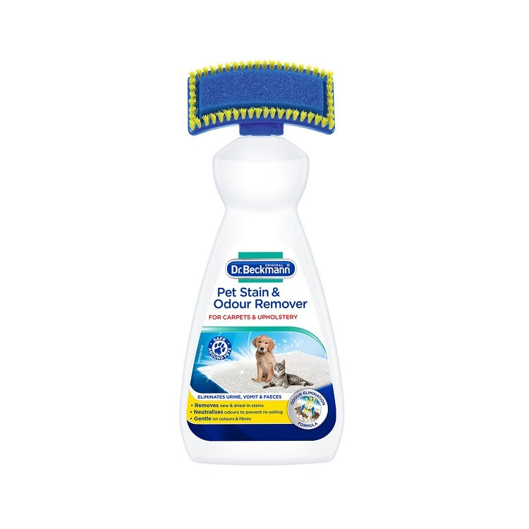 Dr Beckmann Pet Stain & Odour Remover with Brush 650ml