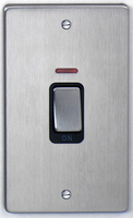 DETA Flat Plate Tall Cooker switch Satin Chrome with Black Insert | LV0201.0174