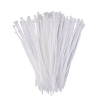 300x4.8mm CLEAR CABLE TIES (100pk)