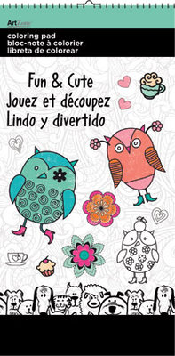 """Colouring Pad Mini 6"""" X 12""""  Fun & Cute Designs. (Priced in singles, order in multiples of 3)"""