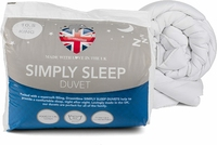 Dreamtime Simply Sleep 10.5 Tog Duvet, Polyester, King Size, White