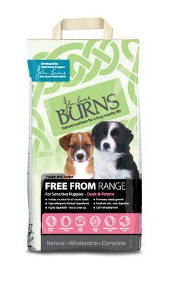Burns 'Free From' Grain Free Puppy - Duck & Potato 2kg