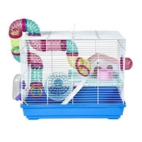 Interesting Cage for Small Animals (Hamster) - Blue x 1