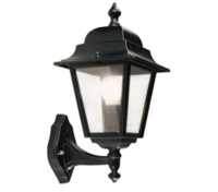 ANSELL Nizza E27 Wall Lantern (Bottom Arm) Black Copper