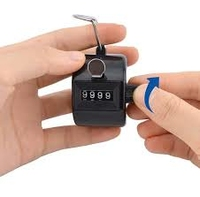 Tally Counter Hand Held Up To 9999 , Thumb Bu