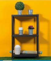 Universal Pro Shelves Black (W60 X D30 X H95 Cm)