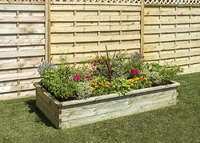 SLEEPER RAISED BED 1.80m x 0.90m x 0.30m