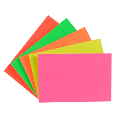 "LYNX CA3 6"" x 4"" fluorescent card (10 Pack of 24) Assorted"