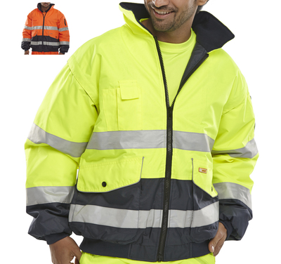 CLICK Europa Hi-Vis Bomber Jacket c/w Removable Sleeves