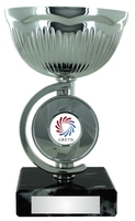 15cm Silver Metal Cup Trophy (V202S)