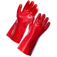 Supertouch PVC Dip Gauntlet, 35 cm, Red
