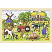 Mr Millers Farm wooden jigsaw Puzzle