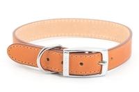 """Ancol Heritage Leather Collar Tan 24"""" x 1"""