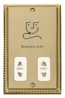Click Deco Georgian Cast Brass with White Insert Dual Voltage Shaver | LV0101.1800
