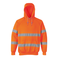 Portwest Hi-Visibility Hooded Sweatshirt Hi-Vis Orange