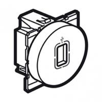 Arteor USB Socket Round - Magnesium    LV0501.2621