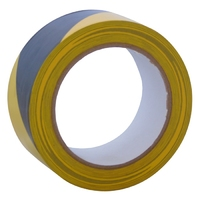 "2"" x 33m Self Adh. Hazard Tape (Black + Yellow) (WT398/6)"