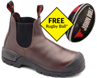 John Bull Cougar 2.0 Slip On Safety Boot With Scuff Cap Oxblood