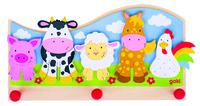 Coat Rack. Animals on Farm.