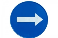 SAFETY SIGN ROUND ARROW