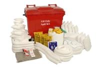 600 l Mobile Oil Spill Kit Wheeled Unit
