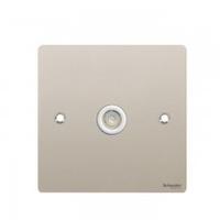 Schneider FLAT PLT SINGLE TV/FM CO-AXIAL PN WH Insert|LV0701.0172